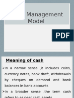 cash management model