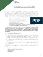 Dynamic test - Method statement (1)