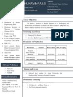Navin GME resume