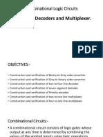 combinational logic circuit decoder and multiplex
