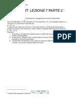 Lezione 7 Parte 2 - Esercitazione Soluzione