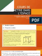 Cours de Géométrie dans l'Espace