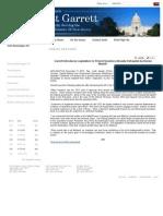 Garrett Press Release 12-17-2010