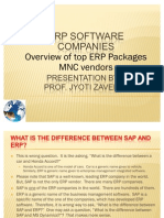 SAP, Oracle, Infor, Microsoft Dynamics - MNC ERP