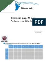 correção 1. 9°ano caderno de atividades 24 e 25