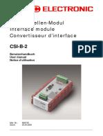 HYDAC - Electronics -- CSI-B-2