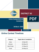 D92 - Online Contest Guidelines for International Speech Contest