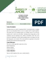 Course Outline OS-Template