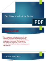Feritina serică la femei