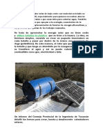 Construir Un Calentador Solar de Bajo Costo Con Material Reciclado Es Algo Muy Simple y Útil