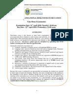 SGDU6033 Organizational Behaviour in Education Take-Home Exam