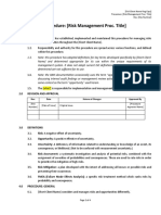 Procedure - Risk & Opportunity Management