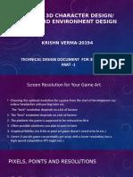TECHNICAL DOCUMENTATION OF GAME DEVELOPMENT-I