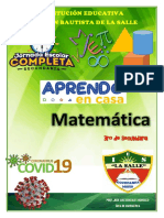 TALLER MATEMATICA APRENDO EN CASA MATEMATICA 1RA SEMANA 1RO, 2DO Y 3RO grado