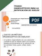Métodos organolépticos para la identificación de suelos