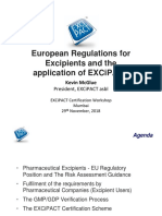 EXCiPACT India workshop_European Regulations for Excipients & the application of EXCiPACT_KJM