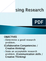 Research Problem And Lit and Theoretical Framework