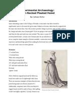 Pennsic A&S - Experimental Archeology German High Necked Pleated Hemd (Again)