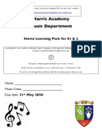 s1 2 music home learning editable pdf