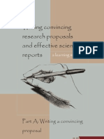 Writing Convincing Research Proposals and Scientific Reports