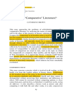 BROWN, What is Comparative Literature