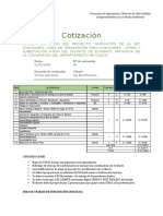 Cotización Prospeccion Geologica Regional y Local