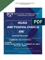 GUIA METODOLOGICA ADMINISTRACION CARRERA ESTETICA 2020