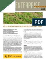 Crop Enterprise Budget. No-till Dryland Winter Wheat-Fallow Rotation
