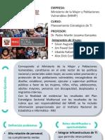 PETI - Ministerio de La Mujer y Poblaciones Vulnerables