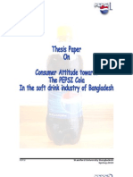 Consumer attitude towards the Pepsi  cola in the soft drink industry of Bangladesh