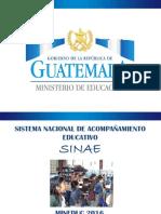 3 Presentación SINAE.pdfMINISTERIO DE EDUCACIÓN GUATEMALA