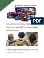 LOS ORÍGENES DEL CONCEPTO DE CALIDAD EN LA EDUCACIÓN (Autoguardado)