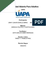 TAREA 7 Y TRABAJO FINAL DE DERECHO POLITICO Y CONSTITUCIONAL
