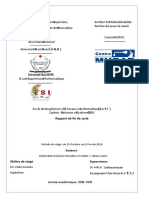 Rapport de stage de fin de cycle