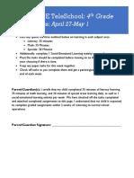 4th grade plans - week of april 27-may 1