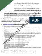 Documente SSM Învatamint (Școală, Gimnaziu, Liceu)