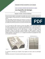 Prova Especifica Geologia 2012