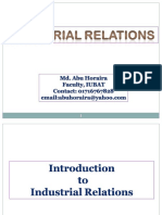 Introduction to Industrial-Relations