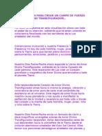 VISUALIZACIÓN PARA CREAR UN CAMPO DE FUERZA DE AMOR DIVINO TRANSFIGURADOR