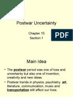 Ch 15 Section 1 - Postwar Uncertainty