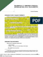 Fernández, S_(1995)_Errores de desarrollo y errores fosilizables en el aprendizaje de LE Tratamiento didáctico