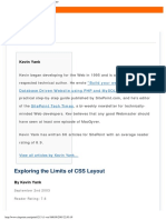 2003 - (Sitepoint) Exploring The Limits Of Css Layout (9 pages)