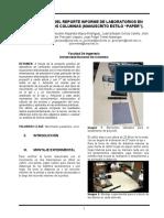 Informe de laboratorio Física I