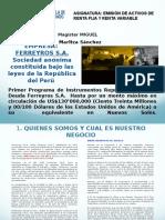 FERREYROS EMISION BONOS