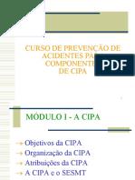 CIPA - CURSO DE PREVENÇÃO DE ACIDENTES  -  JOHNSON CONTROLS