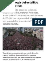 La cronología del estallido social de Chile | Chile en DW | DW | 25.11.2019