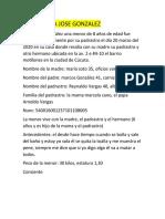 CASO MARIA JOSE GONZALEZ
