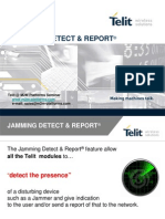 Telit Jamming Detect & Report 7 M2M Platforms Seminar 2007