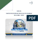 Plan de aplicacion de protocolo de seguridad en obra
