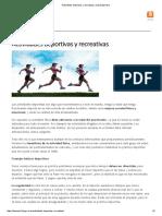 Actividades deportivas y recreativas _ Salud deportiva
